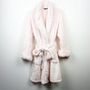 SOMA Baby Pink Fuzzy Bathrobe Robe Size 0/1